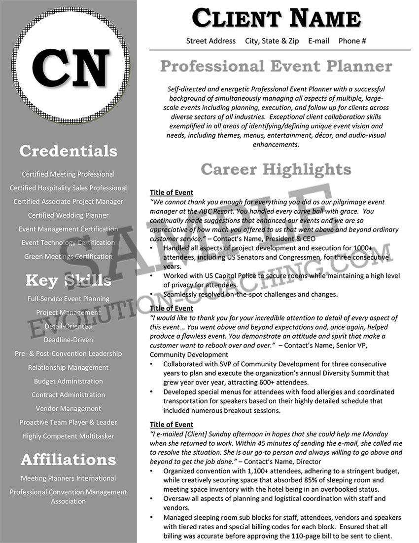 Before Resume Sample